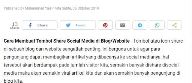 Cara Membuat Tombol Share Social Media di Blog/Website