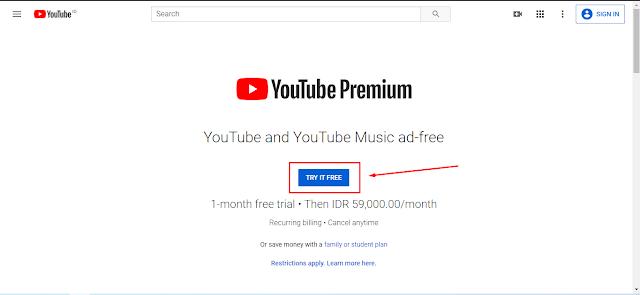 Cara Mendapatkan Youtube Premium Secara Gratis