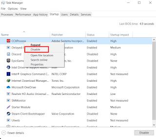 Cara Mematikan Aplikasi Startup Otomatis Windows 10
