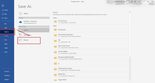 Cara Merubah File Word Menjadi PDF