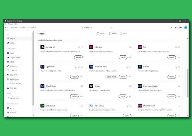 Cara Mendapatkan License Semua Aplikasi Adobe Gratis Selama 2 Tahun