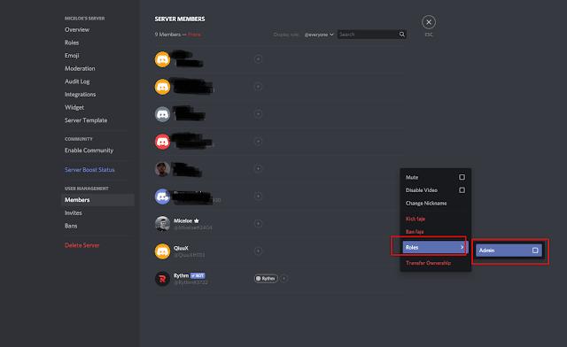 Cara Menambahkan Admin pada Server Discord