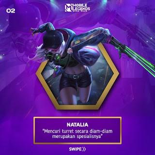 Natalia hero untuk split push turret