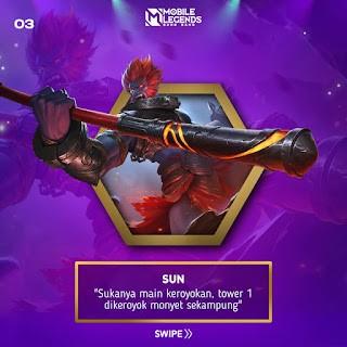 Sun hero paling ampuh untuk split push tower